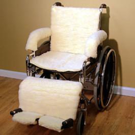 Synthetic Sheepskin Armrest Footrest Legrest Seat