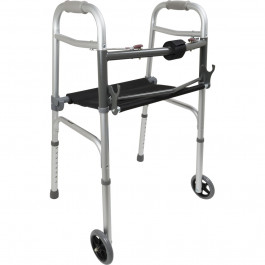 Probasics Two Button Folding Walker With Roll Up Seat 1800wheelchair