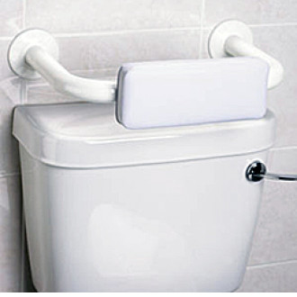 Padded Toilet Backrest Grab Bar