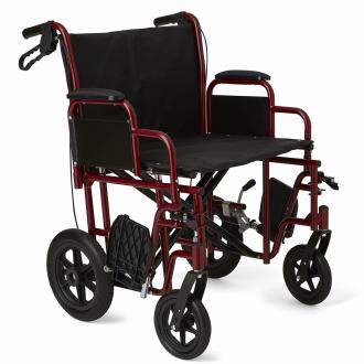 Medline Bariatric Transport Chair W 12 Quot Rear Wheels