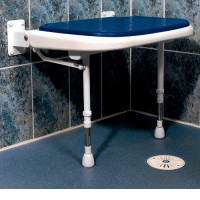 Wide Padded Fold-Up Shower Seat