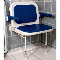 Wide Padded Shower Seat with Back and Arms