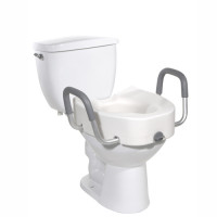 Plastic Elevated Elongated Toilet Seat with Arms