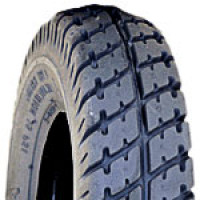 "Tire (10"" x 3"") Pneumatic ~ Lt Grey, Tread C9210, 35 PSI"