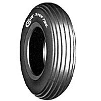 "Tire (8"" x 2"") Foam Filled ~ Lt Grey~ Tread C179"