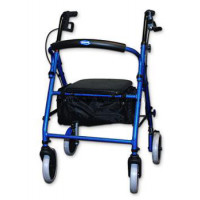 Rollator with Soft Seat and Round Backrest