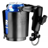 Cup Holder with U-Bolt Wheelchair Rail Mount