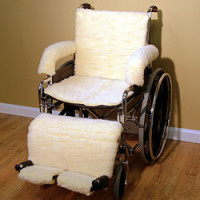 Synthetic Sheepskin Total Wheelchair Package