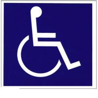Reflective Wheelchair Logo Safety Sticker