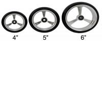 Soft-Roll Wheelchair Caster Wheels