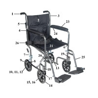 Parts for Drive Steel Transport Chair