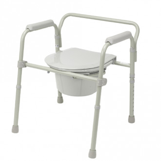Drive Bariatric Folding Commode 1800wheelchair Com