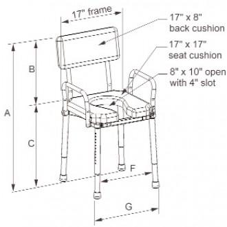 Multichair Shower Toilet Seat W Swing Away Transfer Bench