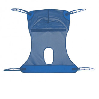 One Medline Full Body Mesh 4 Point Sling W Commode Opening